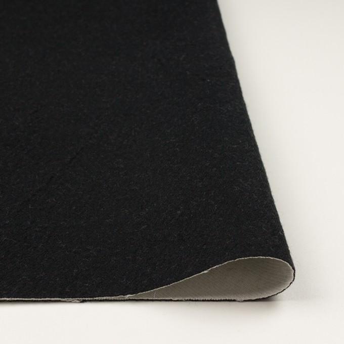ウール&コットン×無地(ブラック&アイボリー)×二重織 イメージ3