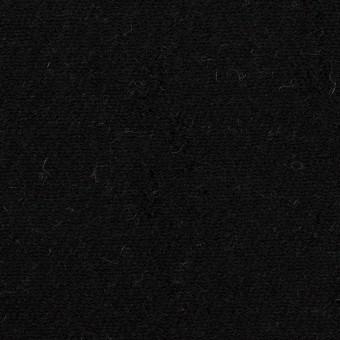 ウール&コットン×無地(ブラック&アイボリー)×二重織 サムネイル1