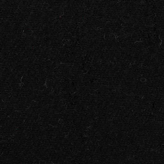 ウール&コットン×無地(ブラック&アイボリー)×二重織 イメージ1