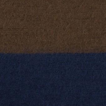 ウール×ボーダー(ブラウン&ネイビー)×天竺ニット