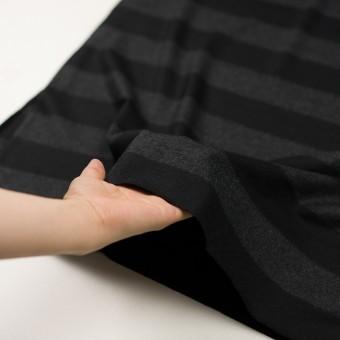 ウール×ボーダー(チャコールグレー&ブラック)×天竺ニット サムネイル5