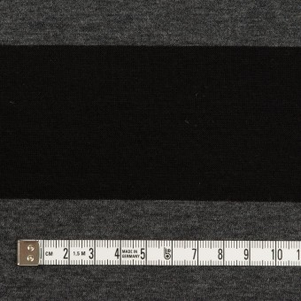 コットン×ボーダー(チャコールグレー&ブラック)×Wニット サムネイル4