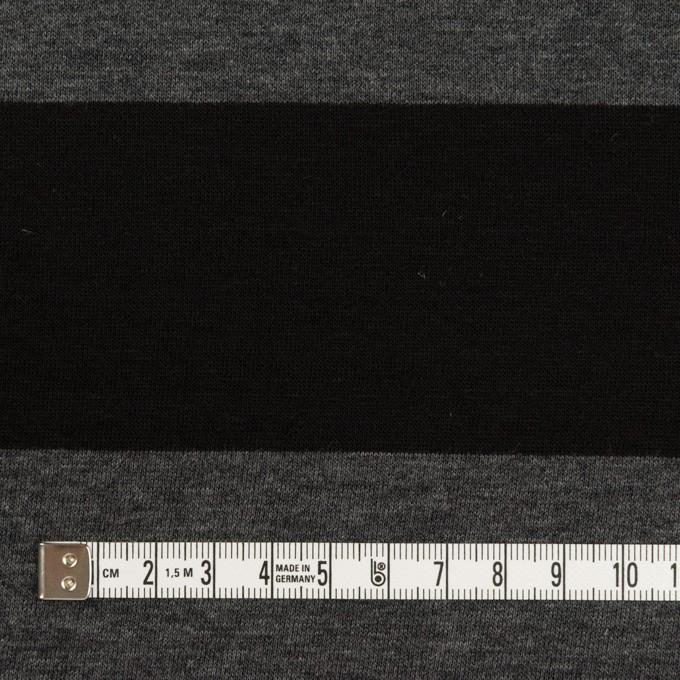 コットン×ボーダー(チャコールグレー&ブラック)×Wニット イメージ4