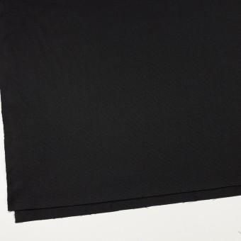 ウール×無地(ブラック)×斜子織 サムネイル2