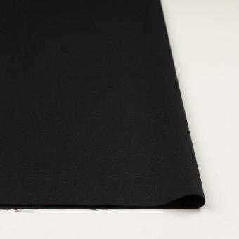 ウール×無地(ブラック)×斜子織 サムネイル3