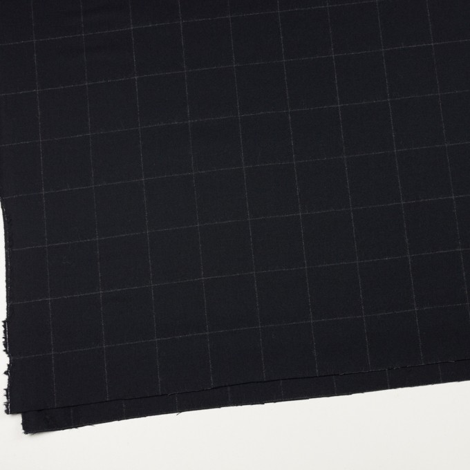 ウール×チェック(ダークネイビー)×サージ イメージ2