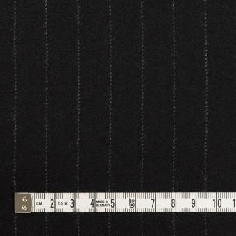 ウール×ストライプ(ブラック)×サージ サムネイル4