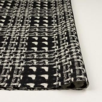 ウール×チェック(アイボリー&ブラック)×二重織ガーゼ サムネイル3