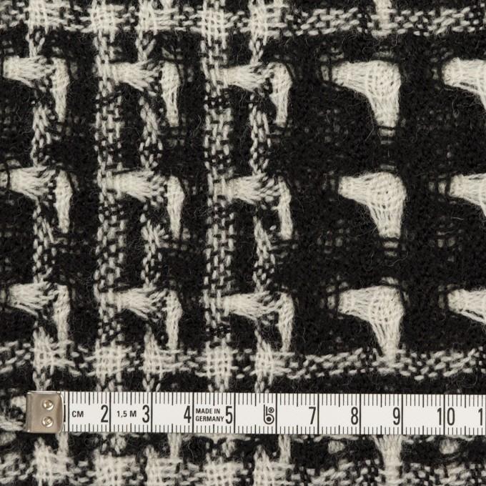 ウール×チェック(アイボリー&ブラック)×二重織ガーゼ イメージ4