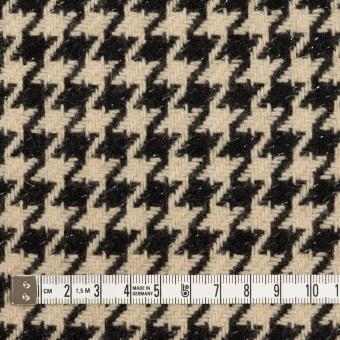 ウール&アルパカ混×チェック(ベージュ&ブラック)×千鳥格子 サムネイル4