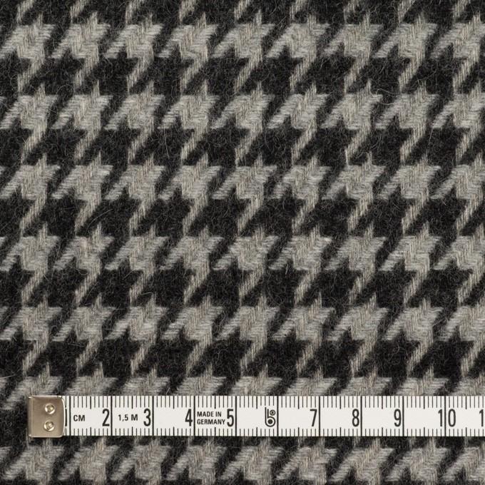 ウール&アンゴラ×チェック(グレー&チャコール)×千鳥格子 イメージ4
