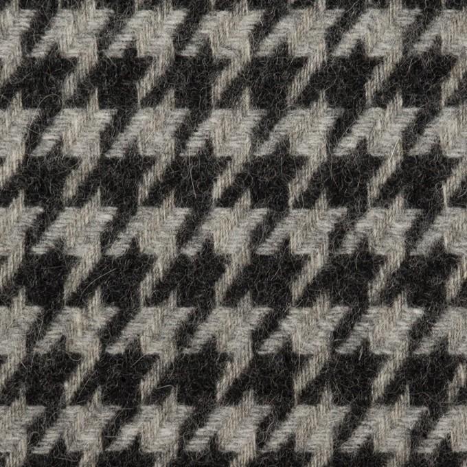 ウール&アンゴラ×チェック(グレー&チャコール)×千鳥格子 イメージ1