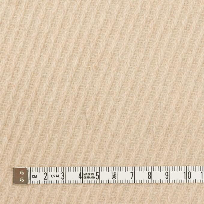 ウール×無地(ライトベージュ)×カルゼ_全2色 イメージ4