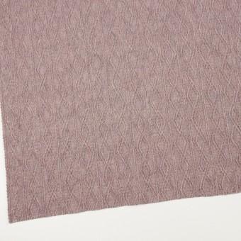 ウール&アクリル混×幾何学模様(グレイッシュピンク)×模様編みニット サムネイル2