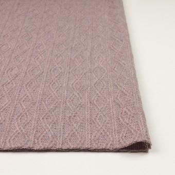 ウール&アクリル混×幾何学模様(グレイッシュピンク)×模様編みニット サムネイル3