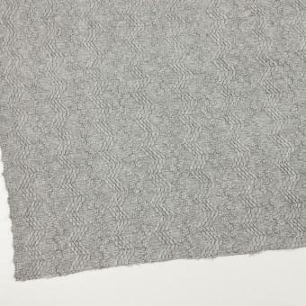 ウール&アクリル混×幾何学模様(ライトグレー)×かわり織 サムネイル2