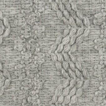 ウール&アクリル混×幾何学模様(ライトグレー)×かわり織
