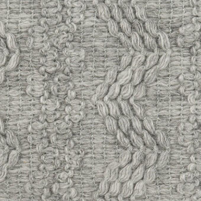 ウール&アクリル混×幾何学模様(ライトグレー)×かわり織 イメージ1