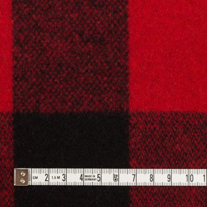 ウール×チェック(レッド&ブラック)×ツイード イメージ4