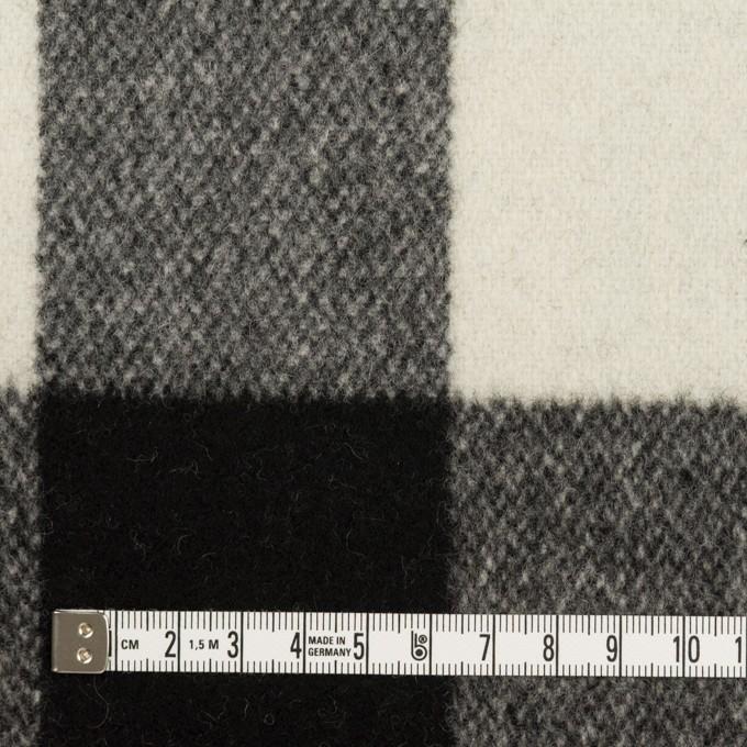 ウール×チェック(アイボリー&ブラック)×ツイード イメージ4