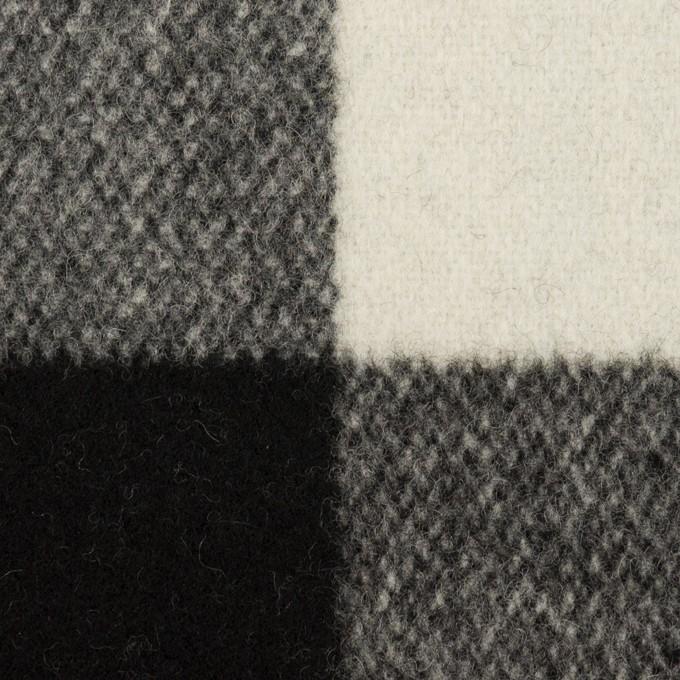 ウール×チェック(アイボリー&ブラック)×ツイード イメージ1