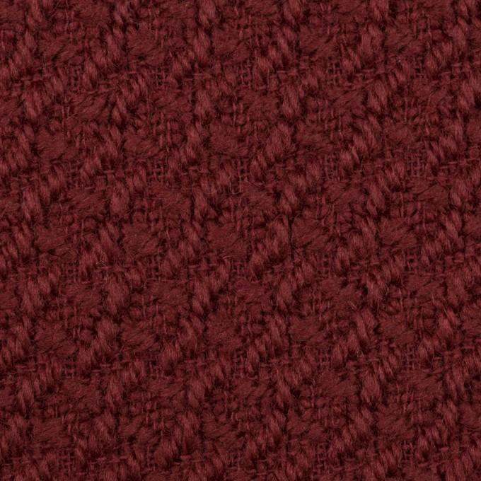 ウール×無地(バーガンディー)×かわり織_全2色 イメージ1