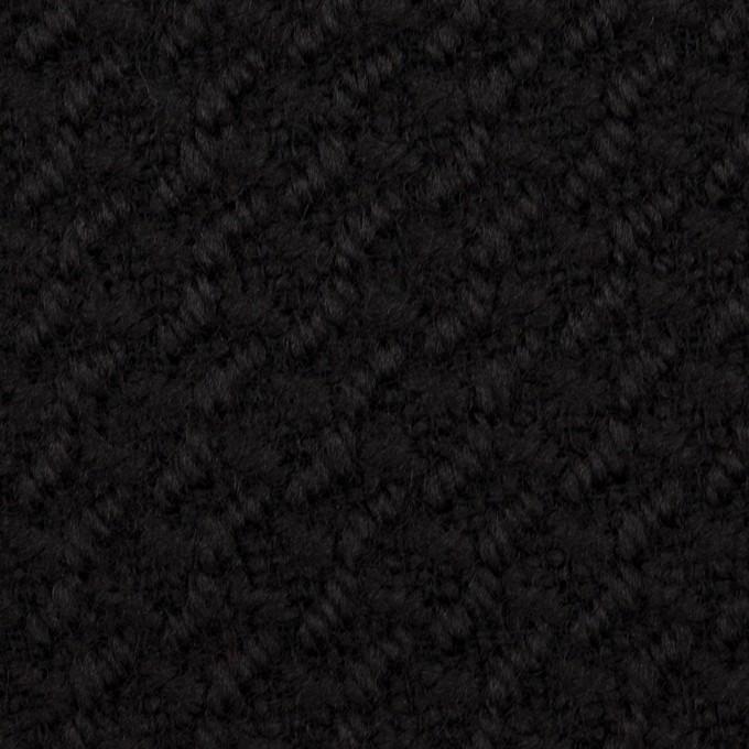 ウール×無地(ブラック)×かわり織_全2色 イメージ1