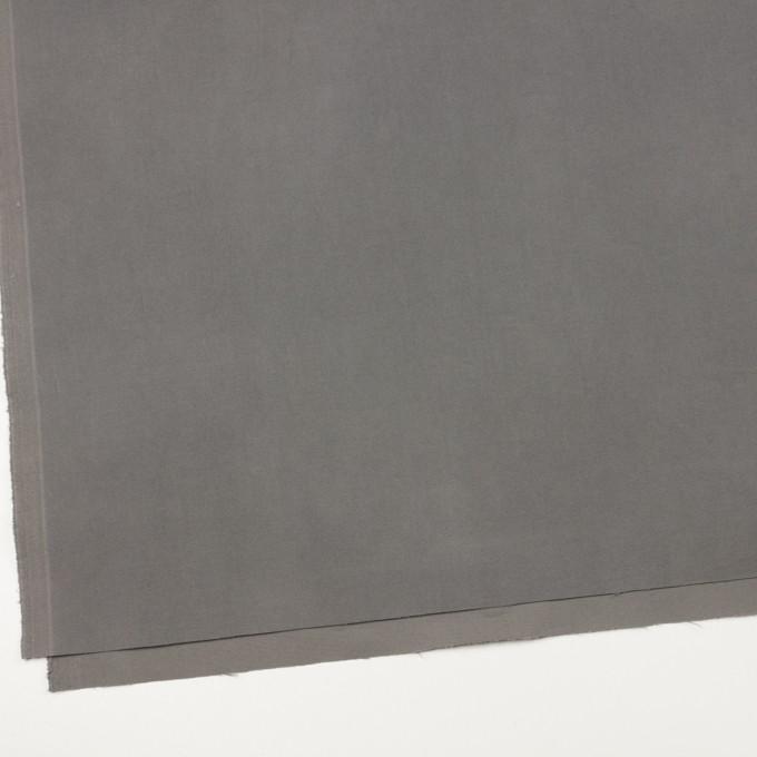コットン&ポリウレタン×無地(グレー)×フランネル・ストレッチ イメージ2