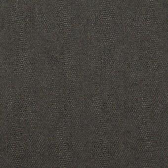コットン&ウール混×無地(チャコールグレー)×チノクロス