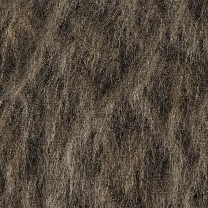 ウール×レオパード(アッシュブラウン&チャコール)×シャギー イメージ1