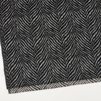 ウール&アンゴラ×ゼブラ(アイボリー&ブラック)×ビーバー_全2色 サムネイル2