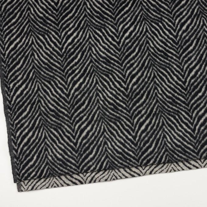 ウール&アンゴラ×ゼブラ(アイボリー&ブラック)×ビーバー_全2色 イメージ2