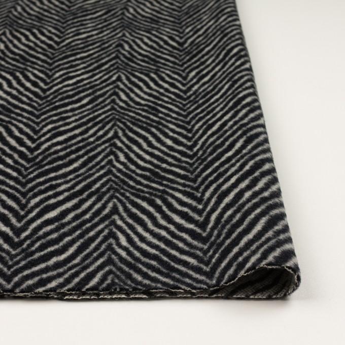 ウール&アンゴラ×ゼブラ(アイボリー&ブラック)×ビーバー_全2色 イメージ3