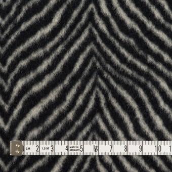 ウール&アンゴラ×ゼブラ(アイボリー&ブラック)×ビーバー_全2色 サムネイル4
