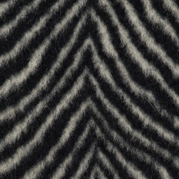 ウール&アンゴラ×ゼブラ(アイボリー&ブラック)×ビーバー_全2色 イメージ1