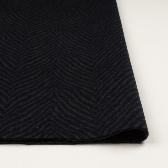 ウール&アンゴラ×ゼブラ(チャコール&ブラック)×ビーバー_全2色 イメージ3