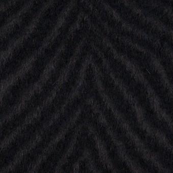 ウール&アンゴラ×ゼブラ(チャコール&ブラック)×ビーバー_全2色
