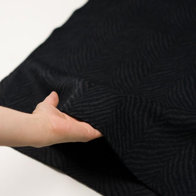 ウール&アンゴラ×ゼブラ(チャコール&ブラック)×ビーバー_全2色 イメージ5