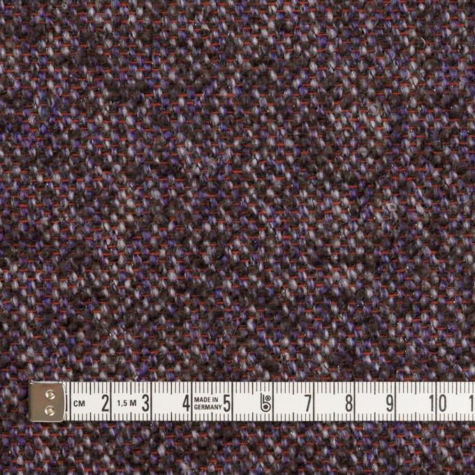 ウール&モヘア混×ミックス(グレープ&チャコール)×ファンシーツイード_全3色 イメージ4