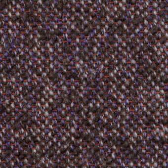 ウール&モヘア混×ミックス(グレープ&チャコール)×ファンシーツイード_全3色