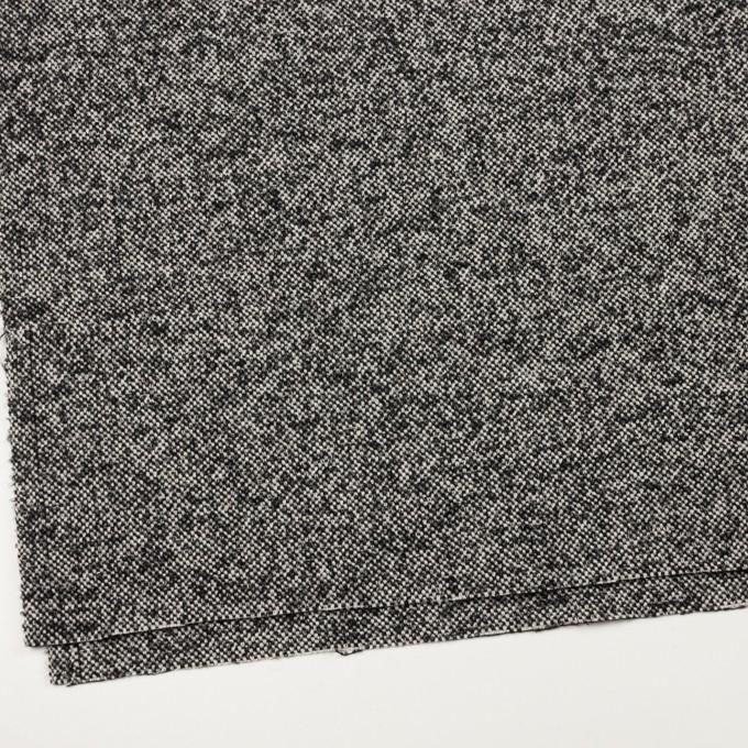 ウール&モヘア混×ミックス(オフホワイト&ブラック)×ファンシーツイード_全3色 イメージ2