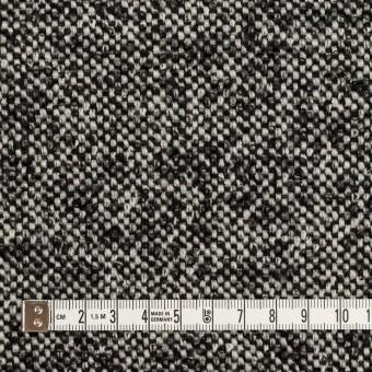 ウール&モヘア混×ミックス(オフホワイト&ブラック)×ファンシーツイード_全3色 サムネイル4