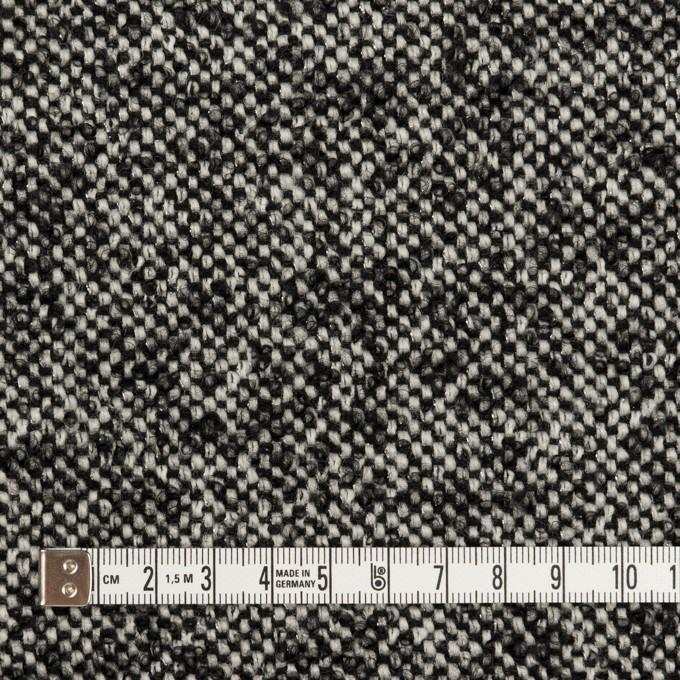 ウール&モヘア混×ミックス(オフホワイト&ブラック)×ファンシーツイード_全3色 イメージ4