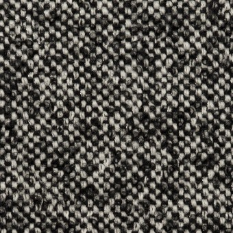 ウール&モヘア混×ミックス(オフホワイト&ブラック)×ファンシーツイード_全3色