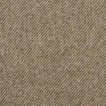 ウール&リネン×ミックス(カーキベージュ)×厚サージ