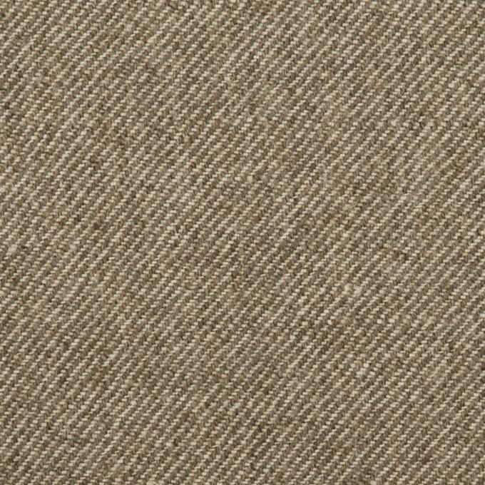 ウール&リネン×ミックス(カーキベージュ)×厚サージ イメージ1