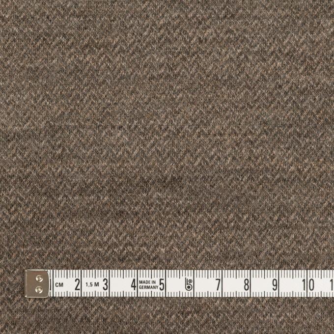 ウール&ナイロン×ミックス(アッシュブラウン&カーキグリーン)×Wニット イメージ4