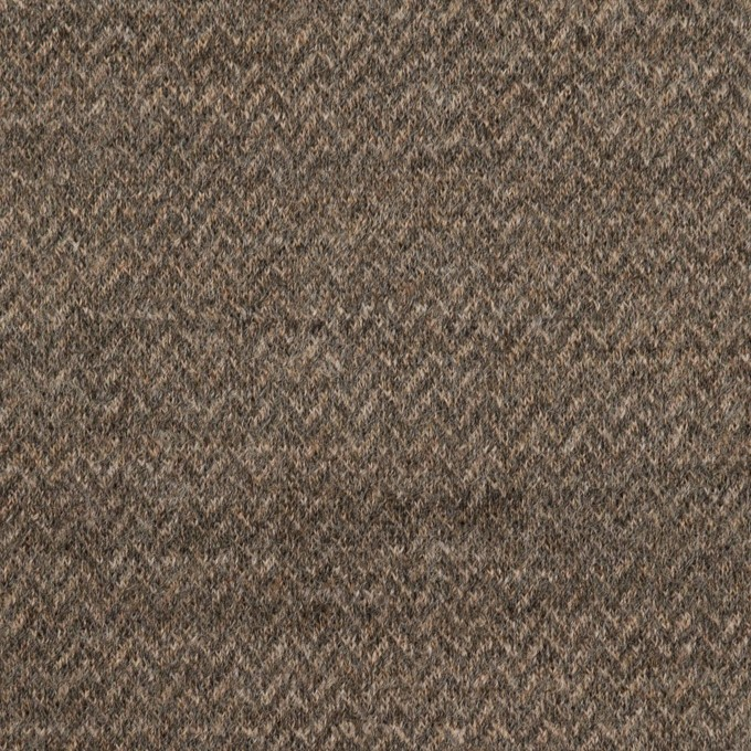 ウール&ナイロン×ミックス(アッシュブラウン&カーキグリーン)×Wニット イメージ1