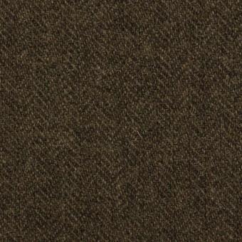 ウール&ナイロン×ミックス(カーキグリーン&ダークブラウン)×ヘリンボーン