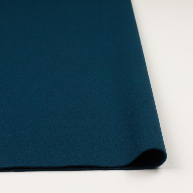 ウール×無地(インクブルー)×ソフトメルトン イメージ3